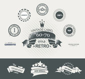 Set of vintage retro premium quality badges and labels — Vecteur