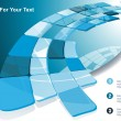 Blue technological banner. Vector illustration — Vector de stock #11401101