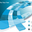 Blue technological banner. Vector illustration — Stockvector #11401101