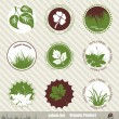 Ecology icon set - Stockvectorbeeld