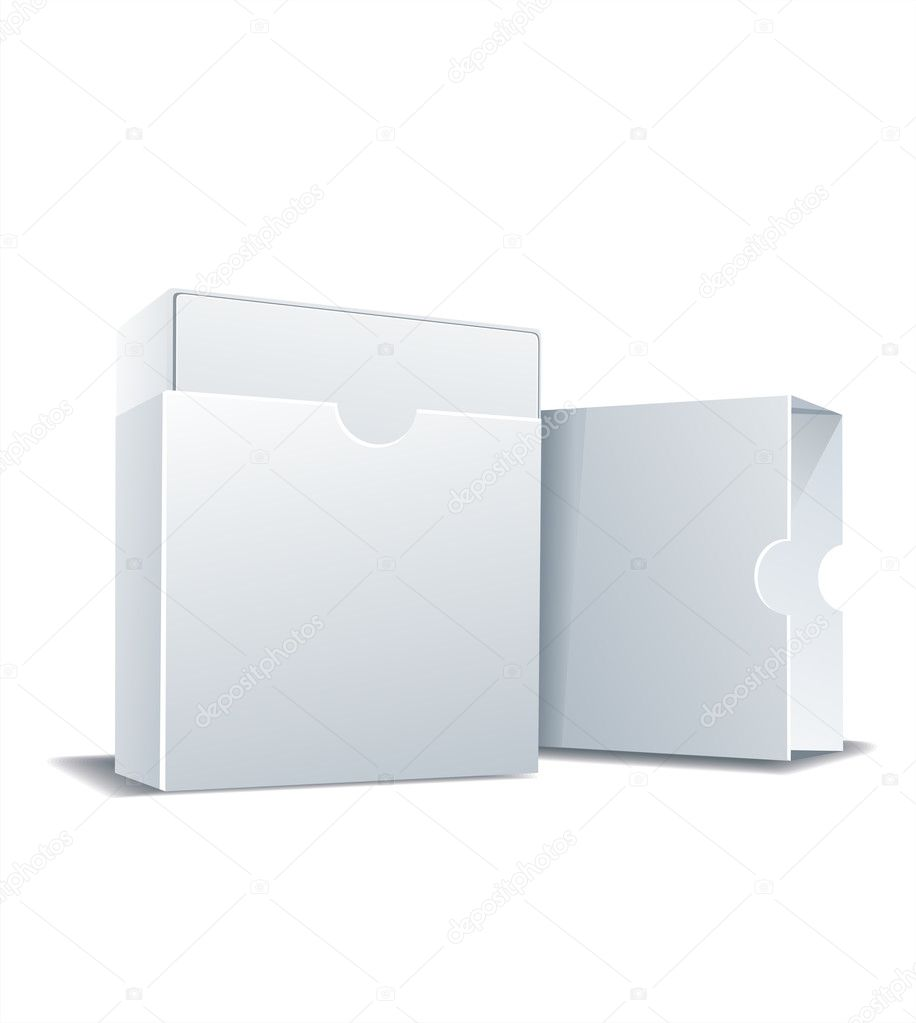 Package white box, vector illustration — Stock Vector #11401109