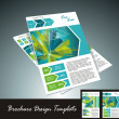 Brochure design element, vector illustartion — Imagen vectorial