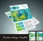 Brochure design element, vector illustartion — Vecteur