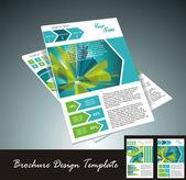 élément de conception de brochure, illustration vectorielle — Vecteur