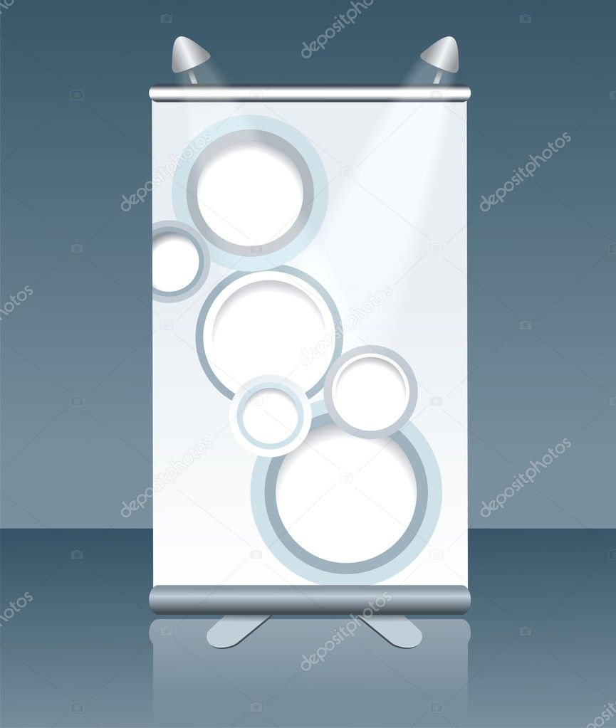 Blank vertical billboard — Stock Vector #11642789