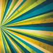 Multicolor beams grunge background. A vintage poster. - Image vectorielle