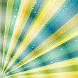 Royalty-Free Stock Vectorafbeeldingen: Multicolor beams grunge background. A vintage poster.