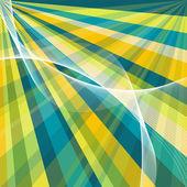 Vector blue retro burst abstract background — Stock Vector