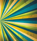 Multicolor beams grunge background. A vintage poster. — Stock Vector