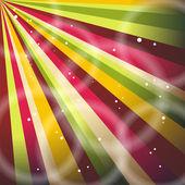 Multicolor Sunbeams grunge background. A vintage poster. — Stock Vector