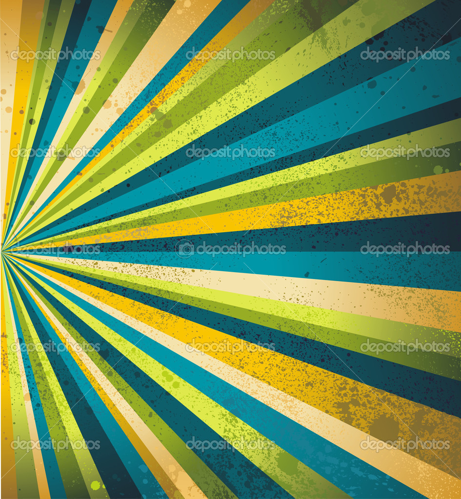 Multicolor beams grunge background. A vintage poster. — Stok Vektör #11931468