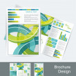 Brochure design — Vector de stock #12264727