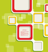 テキストの空白の正方形の背景 — ストックベクタ