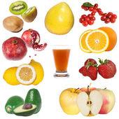 Colagem de fruta fresca — Fotografia Stock