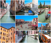 Collage of the streets of Venice — Stock Photo
