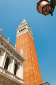 The bell tower of San Marco, Venice — Foto Stock
