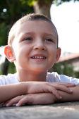 Portrait of little smiling boy — Stock Photo