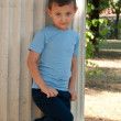 Cute boy five years old — Stock Photo