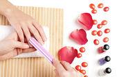 Eller spa. manikür kavramı — Stok fotoğraf