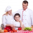 Family cooking — Stock Photo #10984430
