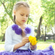 Stock Photo: Portrait of girl in summer park