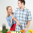 Couple of cooking together — Stock Photo #11288375