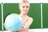 Portrait of a cute female teacher, — Stock Photo