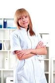 Retrato de uma linda médica — Fotografia Stock