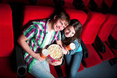 Couple in cinema — Stock Photo