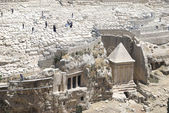 Jewish cemetery on jerusalem mount of olives — Foto Stock