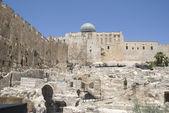 Jerusalem utgrävningar nära västra väggen — Stockfoto