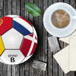 Football artwork — Stock Photo