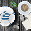 Football artwork - Stock Photo