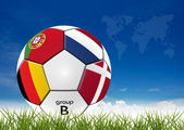 Opera d'arte calcio — Foto Stock