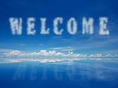 Vítej — Stock fotografie