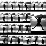 Boy silhouette — Stock Photo