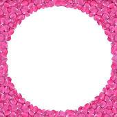 Rose petals frame — Stock Photo