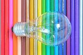 Potlood achtergrondkleur — Stockfoto