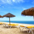 Beach sunshades - Stock Photo