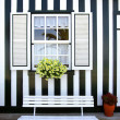 Striped House — Stock Photo