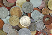New, old and vintage indian coins background — Stock Photo