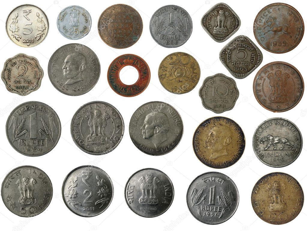 New And Old Indian Coins In Silver Copper Brass Stock