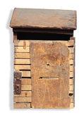 Vintage holz dropbox mit beschneidungspfad — Stockfoto