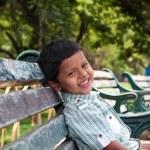 Young kindergarten school boy smiling & having fun — Stock Photo #10909971
