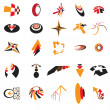 Collection of colorful business identity and brand logo icons cr — Stock Vector
