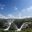 Scenic sivasamudram waterfalls on river cauvery near bangalore a — Stock Photo