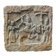 Stone carving of hindu god and godess on granite stone. ca — Stok Fotoğraf #11459838