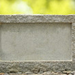 Empty granite signboard with border & frame. The granite is plac — Stock Photo