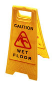 Wet floor sign board to caution about danger and risk iso — Stock Photo