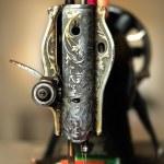 klassische retro-Stil manuelle Nähmaschine bereit für Näharbeiten — Stockfoto